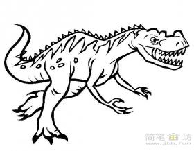 恐龙简笔画:角鼻龙简笔画图片
