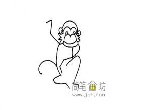 9幅线条简单的猴子简笔画图片