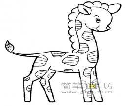 关于长颈鹿的简笔画图片9幅