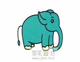 大象的简笔画详细解析