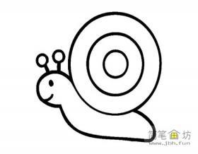 儿童简笔画蜗牛的画法及图片示范