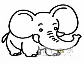 关于大象的简笔画画法图片5幅