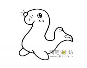 海狮的简笔画图片欣赏