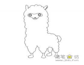 羊驼的简笔画图片