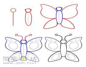 蝴蝶的画法步骤教程