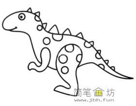 卡通恐龙简笔画