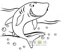 鲨鱼简笔画图片3幅