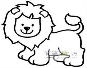 卡通狮子简笔画图片