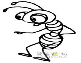 简笔画蚂蚁图片素材6幅