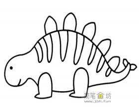 恐龙简笔画图片3幅