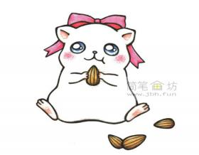 卡通小馋猫简笔画画法