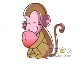 超详细的步骤教大家画猴子简笔画【彩色】