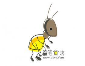 儿童简笔画蚂蚁的画法步骤详解