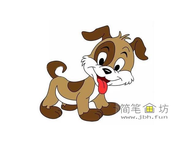 可爱的小狗的简笔画图片(2)