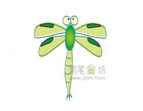 幼儿学画画:彩色的蜻蜓简笔画画法教程