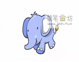 卡通大象的简笔画画法