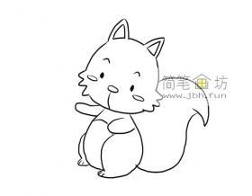 可爱的小松鼠的简笔画