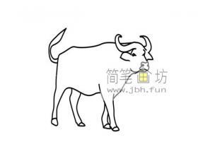 水牛的简笔画画法步骤