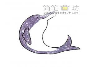跳跃的海豚简笔画图片