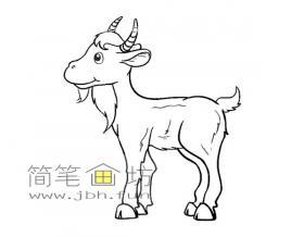 山羊的简笔画图片