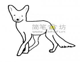 图解狐狸的简笔画步骤
