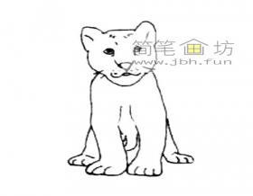 儿童简笔画:小狮子简笔画教程