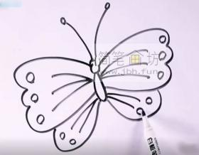 漂亮的蝴蝶的简笔画画法