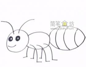 简单的蚂蚁的简笔画教程