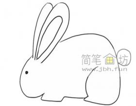 可爱的小兔子的简笔画画法
