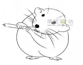 萌萌哒的小老鼠的简笔画教程