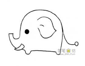 简单的大象的绘画方法