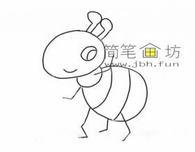 图解蚂蚁的简笔画步骤