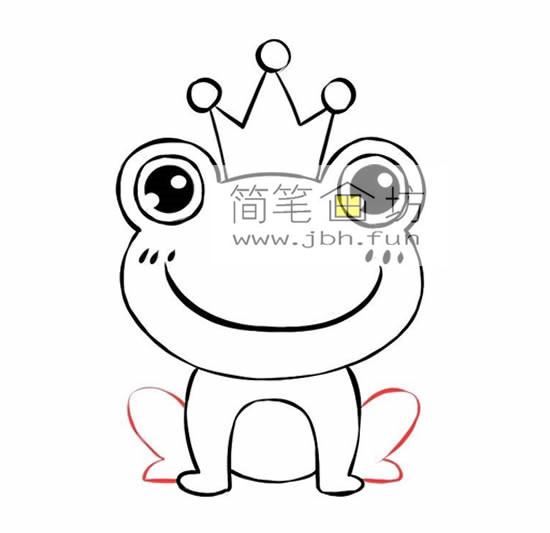 可爱的青蛙王子的简笔画画法步骤