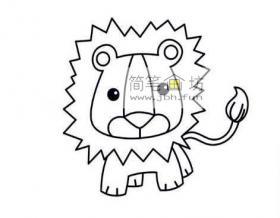 图解可爱的小狮子的简笔画