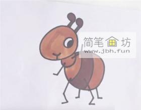 卡通小蚂蚁的简笔画教程详解