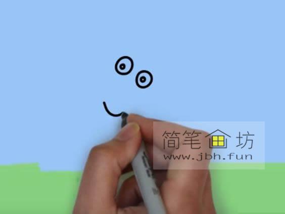 小兔子瑞贝卡的简笔画画法(1)
