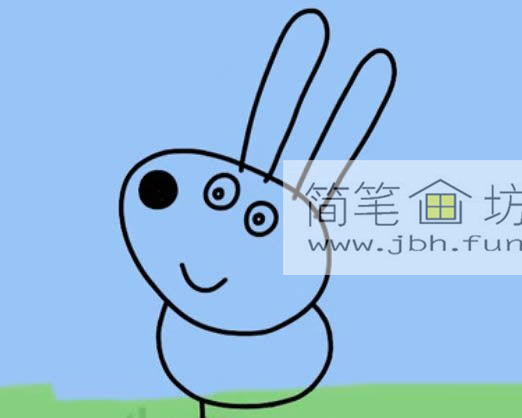 小兔子瑞贝卡的简笔画画法(4)