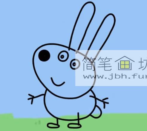小兔子瑞贝卡的简笔画画法(6)
