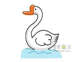 简单漂亮的大白鹅简笔画画法