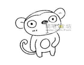 猴子的简笔画画法教程及图片大全