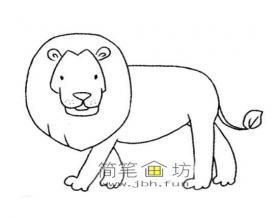 儿童简笔画:狮子的绘画步骤分析
