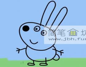 小兔子瑞贝卡的简笔画画法