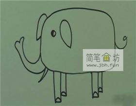 幼儿简笔画大象的图解步骤