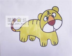 彩色小老虎的简笔画教程