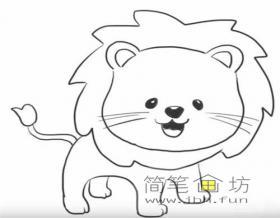 可爱的卡通小狮子的简笔画步骤解析