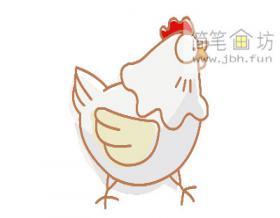 彩色简笔画母鸡的画法教程