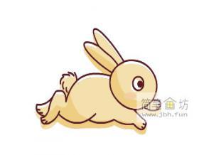 奔跑的兔子彩色简笔画教程