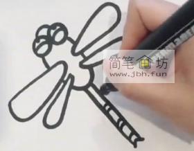 飞翔的小蜻蜓的绘画步骤