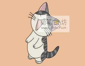 可爱的小猫咪的简笔画画法步骤