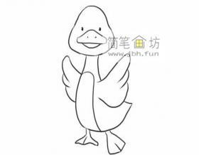 可爱的小鸭子的简笔画教程